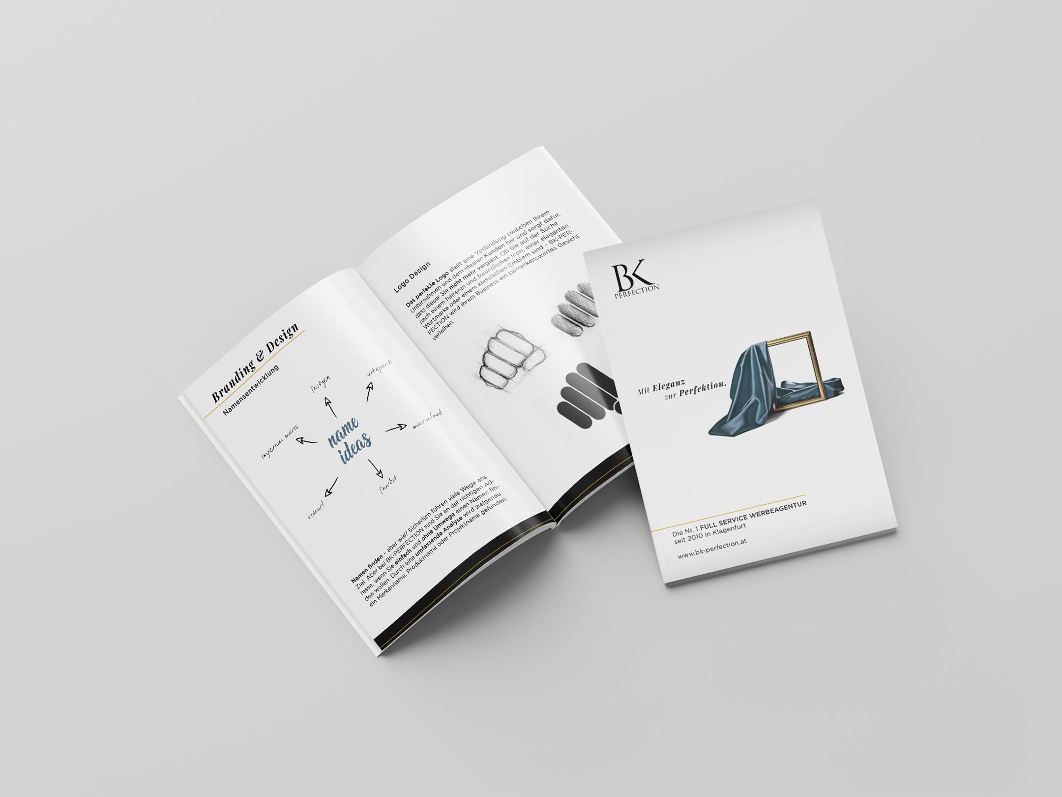 Imagebroschüre für die Werbeagentur BK-Perfection
