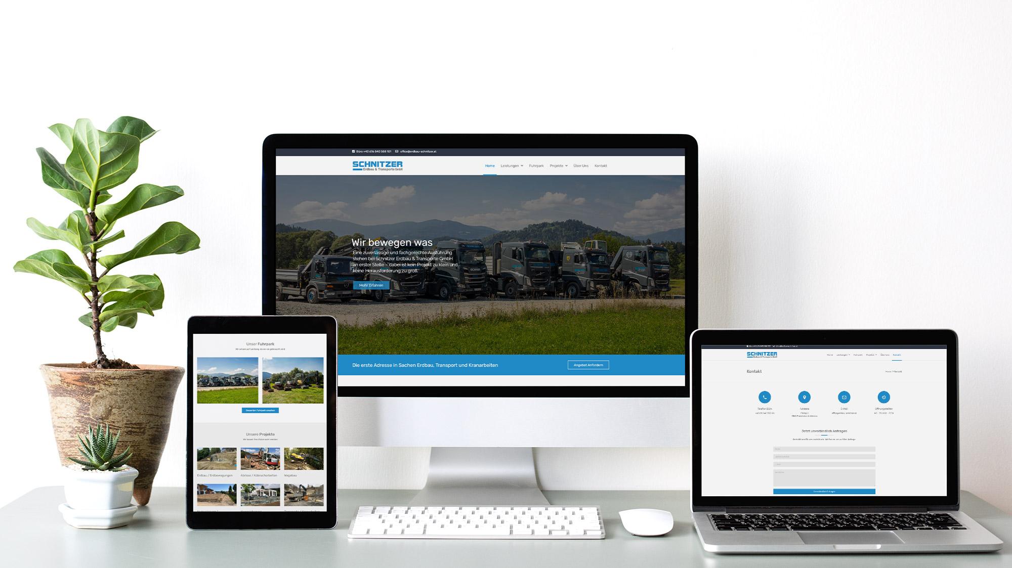 Corporate Website für Erdbau-Schnitzer