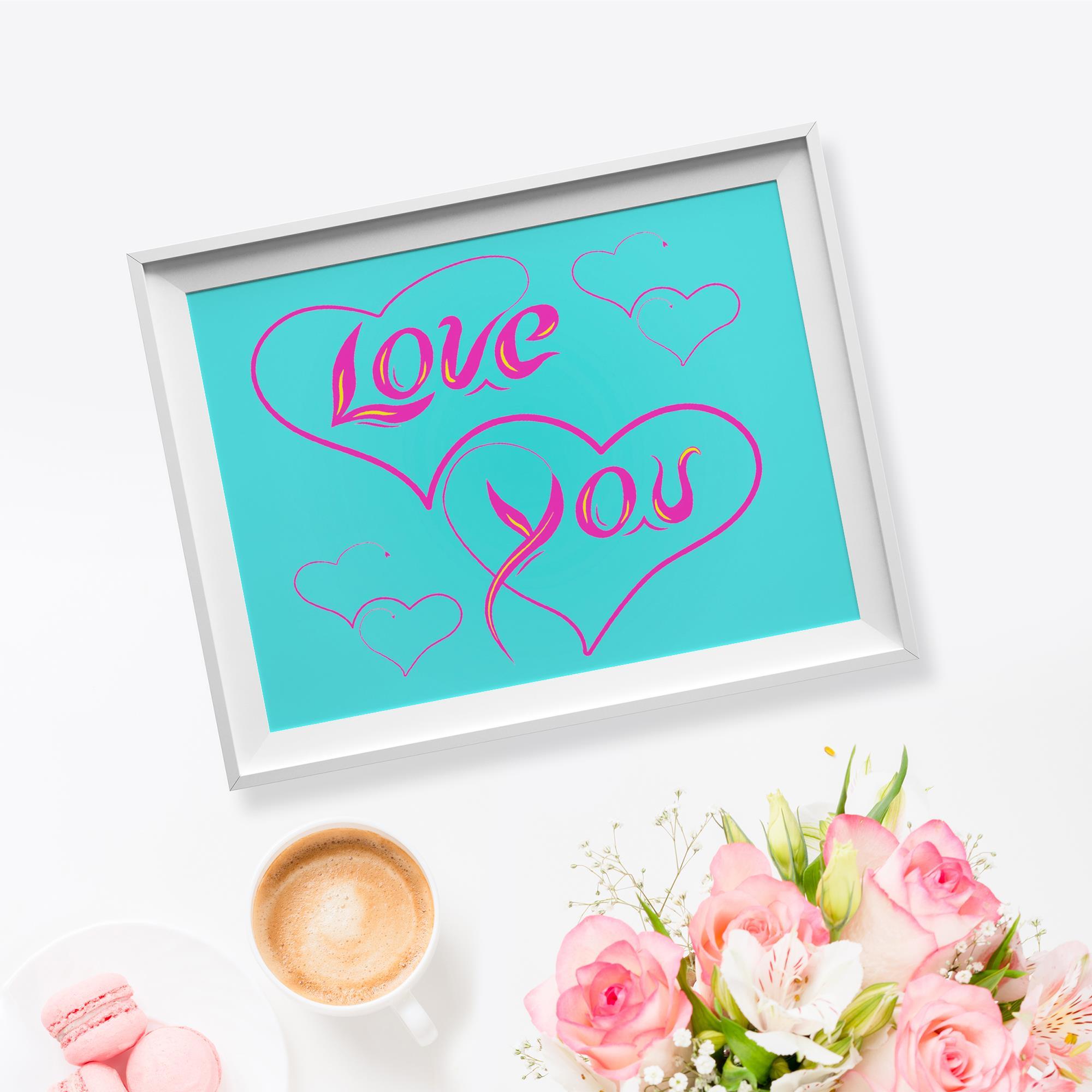 Love You Illustration